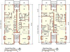Modern Apartment Building Plans plan 18511wb: 8-unit house plan with corner decks | corner deck