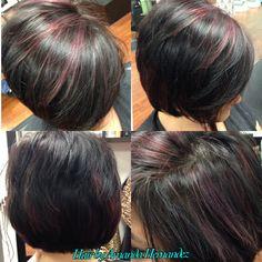Violet highlights Violet Highlights, Trendy Haircuts, Hair And Nails, Amanda, Hair Cuts, Haircuts, Trendy Hairstyles, Fashionable Haircuts, Hair Style