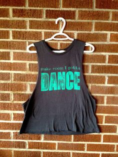 Gotta Dance Eco Friendly Muscle Tank, Deep Side Cut -  ONE SIZE Charcoal and Turquoise dance clothing, workout clothing for women and teens on Etsy, $35.00 CAD