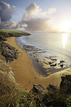 Porthbear beach the Roseland Cornwall.