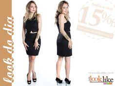 Card Facebook para a loja virtual Moda Look Like. Ação diária no Facebook recomendando o Look do Dia. Acesse a página no Facebook http://www.facebook.com/modalooklike