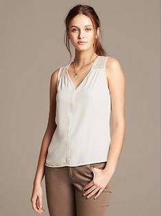 Pieced Lace Tank