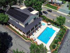 Have you seen the new solar panels at Westgate? Charlottesville, New Shop, New Construction, Solar Panels, Apartments, Mansions, House Styles, Home Decor, Sun Panels
