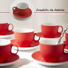 He echado a andar la semana con mi precioso juego de café de 6 servicios, esmaltado en un original tono rojo mate. Encajará en un ambiente romántico y aportará una pincelada muy divertida a tu hogar. http://elhogarideal.com/es/74-juegos-de-cafe