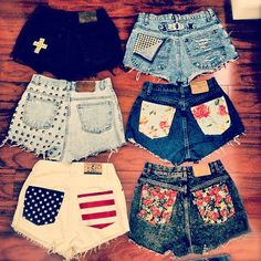 high waisted shorts custom made to order by DistressedWithLove, $35.00