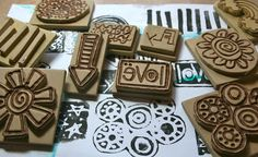 carving stamps from foam