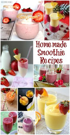 Fruit Smoothie #Recipes http://www.momsandmunchkins.ca/2014/05/30/fruit-smoothie-recipes/ #SlumberParty