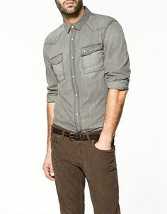 Fancy - SNAPS DENIM SHIRT - Shirts - Man - ZARA United States