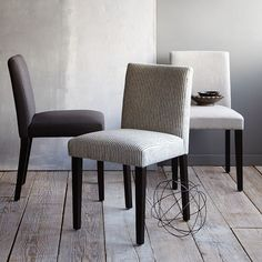 Porter Upholstered Dining Chair - Iron | west elm