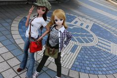 Smart Doll Ebony and Kizuna Yumeno by dears_ippan