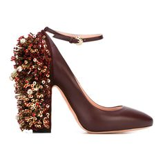 The New Party Shoes to Try Now   Rochas Embellished Heel Pumps