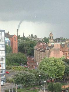 Funnel cloud in Glasgow