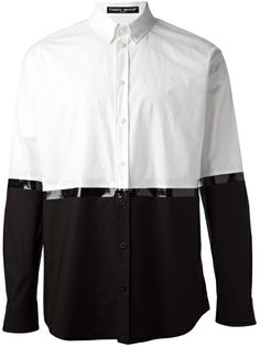 Frankie Morello White Colourblocked Monochrome Shirt for men Mens Designer Shirts, Silk Midi Dress, Pant Shirt, Men's Wardrobe, Future Fashion, Jean Shirts, Vintage Shirts, Monochrome, Shirt Style