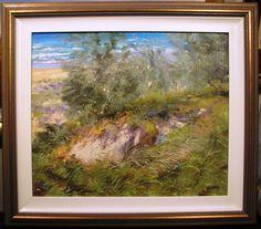 Hal Barton Australian original oil titled  Coastal Sand Dunes Sunshine Coast, Dune, Coastal, Oil, The Originals, Artwork, Painting, Work Of Art, Auguste Rodin Artwork