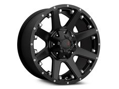 Havok Off-Road H-102 Matte Black Wheel - 17x9 (07-17 Wrangler JK)