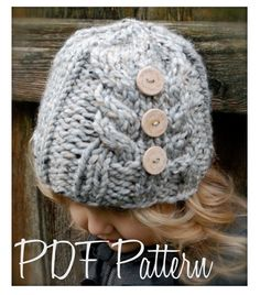 Knitting PATTERN-The Irelynn Hat (Toddler, Child, Adult sizes) also can be Made to Order. 5.50, via Etsy.