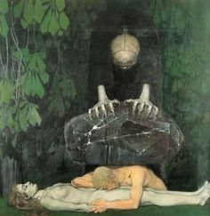 Zwintscher, Oskar, (1870-1916), Grief