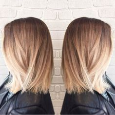 Brown to blonde ombré.