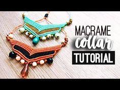 Collar chevron ♥︎ macrame tutorial | como hacer | diy ● Necklace - YouTube