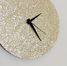 Wall Clock, Retro Glitter Clock, Gold Clock, Home and Living, Decor  Housewares, Trending Clock,  Living Room Decor, Unique Gift