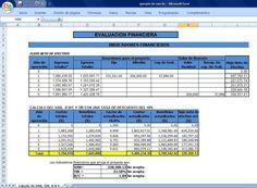Ejemplo en Excel de VAN, TIR y R B/C