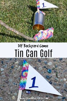 Backyard Games for Kids Tin Can Golf - Green Kid Crafts