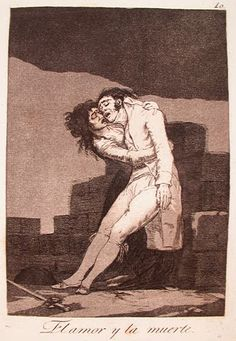 Francisco de Goya, Los Caprichos, Love and Death, 1799