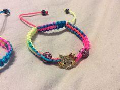 Shamballa Crystal Beads Multi-Color Hello Kitty Adjustable Magnetite Bracelet #HelloKitty #Shamballa