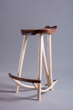 Tim Blackmore, Wishbone Guitar Stool/Stand - Sycamore & Walnut