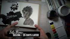Selena from 28 Days Later - Bad Ass Ladies of Horror - Inktober 2018 - Timelapse Art 28 Days Later, Inktober, Selena, Badass, Horror, Draw, Lady, Fictional Characters, Sketches