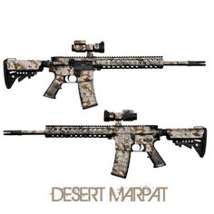 GunSkins AR-15/M4 Rifle Skin Camouflage Wrap Kit Desert Marpat #NLV #NEWLINEVENTURE #USA #America #UnitedStates #AR15 #M4 #Airsoft #Camo #Camouflage #Wrap #Atacs #Rifle #Gun #Skin #GunSkins #Gunskin #Tactical #Military #USMC #Army #Soldier #Weapon #Firearm  www.newlineventure.com  www.nlv.la