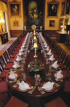 Diningroom at Highclere Castle - Downton Abbey...