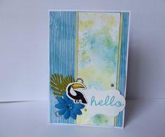 """Carte double """" Hello / bonjour """" pour toutes occasions : Cartes par creations-carterie"""