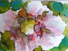 Alcohol Ink Print by Maure Bausch by twopoots on Etsy, $12.50
