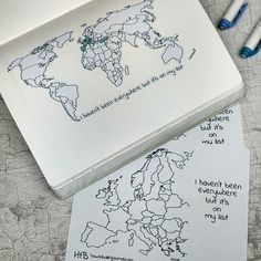 New Zealand is there! Yesterday I forgot to paste it in my notebook. We also added Europe's map sticker and printable in the shop! Go to etsy.com/shop/howtobulletjournal and don't forget that 10% off by using OPENING17 #Regram via @planningroutine