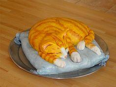 Cat orange unusual cake design cool