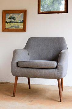 Grey Retro Arm Chair