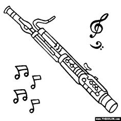 Bassoon Coloring Page | Color a Bassoon