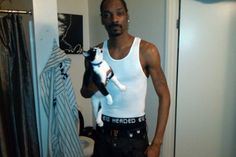 Ironically, Snoop Dogg loves cats. Two Siamese named Frank Sinatra and Miles Davis are part of Snoop's possé.