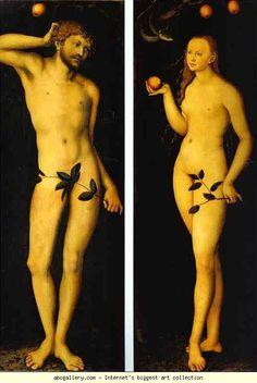 Lucas Cranach the Elder. Adam and Eve. 1528. Oil on panel. Galleria degli Uffizi, Florence, Italy
