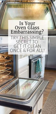 Cleaning oven glass doesn't have to take all day! This NO CHEMICAL tip is so simple, I wish I would have thought of it!
