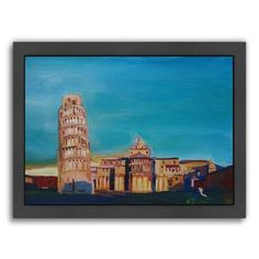 East Urban Home Pisa Framed Original Painting Size: