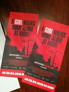 Nice Tickets for 'A Girl Walks Home Alone at Night' #agirlwalkshomealoneatnight #capelight