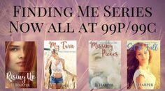 FINDING ME SERIES    ALL NOW AT 99P/99C       (.(. (.(. (.(. (.(. RISING UP When Imogen flees not only her violent abusive partner she flees the country. After a year her desire to be with someone else stays strong never believing in finding a good man let alone love. But when Imogen encounters a tall dark and handsome man everything changes.  Mason single again after finding his long-term girlfriend in his bed with another man vows to never trust a woman again. Then his eyes fall on the…