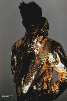 gold foil mylar jacket  fall–winter 2008–2009, patrik ervell