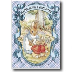 Peter Rabbit card series - Flopsy Mopsy and Cottontail on Lish