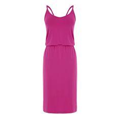 Warehouse, CAMI MIDI DRESS Bright Pink 0