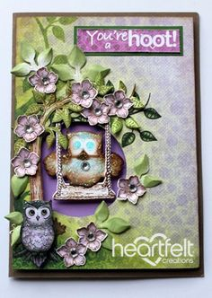 Heartfelt Creations | You're A Hoot Owl Swinging