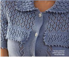 Rue de Rivoli by Martin Storey (found in The Knitter #57), using Rowan Wool Cotton 4-ply