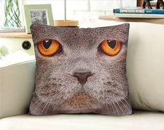 Decorative velvet pillow cushion cover animal Cat design double sides/home decor/optional sizes
